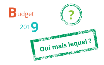 Session budgétaire pour 2019 – Intervention du chef de groupe
